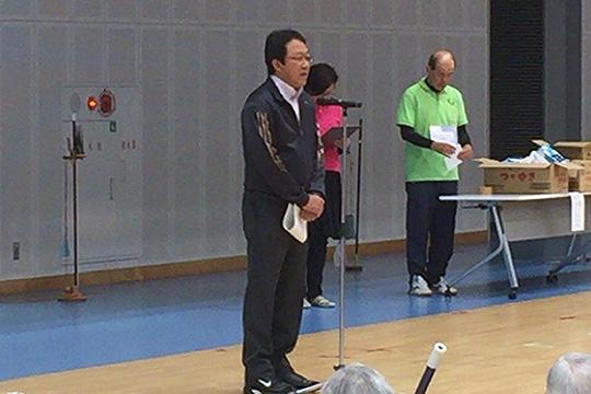 ご来賓・水野式高様(島田市健康福祉部スポーツ振興課課長)からもご挨拶を頂戴しました