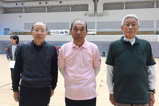 男子6m表彰台の皆さん(中央が優勝された西尾さん)