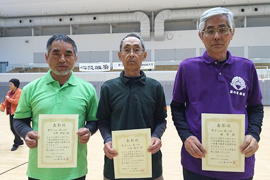 男子8m表彰台の皆さん(同じく中央が優勝の川島さん)
