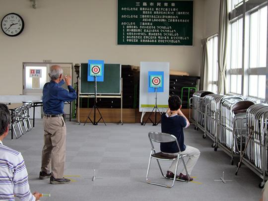 平成27年12月6日の練習時に行った記録会の様子(1)