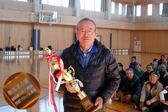 最高得点賞(6ラウンド206点!)の古川さん