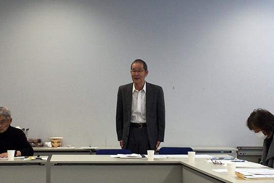 4月から交替する、伊東かわせみ支部の大島新支部長も出席されました