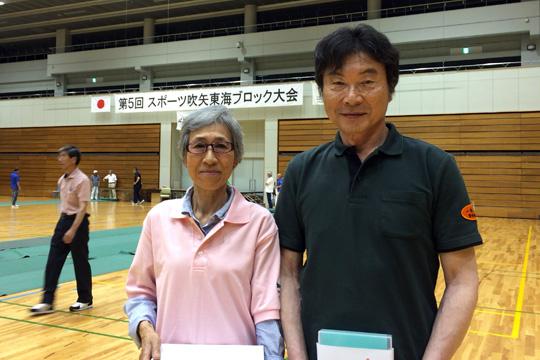 右から団体戦第三位の市川さん、基本動作奨励賞の鈴木さん