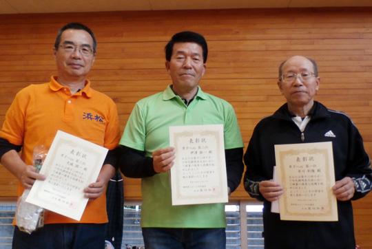 男子8m入賞者。右端が優勝した市川さん。