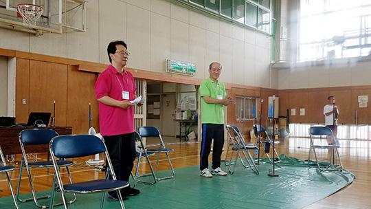 須永県副会長、山本会計担当の挨拶