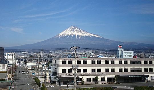 会場からは富士山の美しい姿が綺麗に見えました